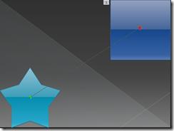 Traço da Animação Pronto - A ponta verde indica o início e a ponta vermelha indica o final